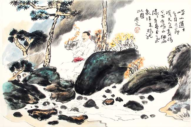 A YANG YAN WEN CHINESE PAINTING, ATTRIBUTED TO