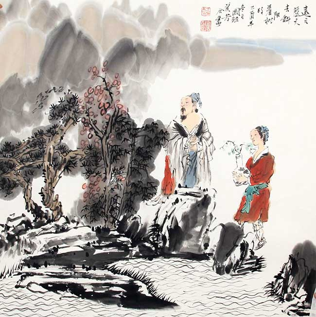ZHAO GUO JING, WANG MEI FANG PAINTING, ATTRIBUTED TO