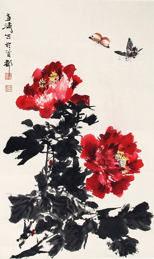 WANG XUE TAO CHENG PAINTING, ATTRIBUTED TO