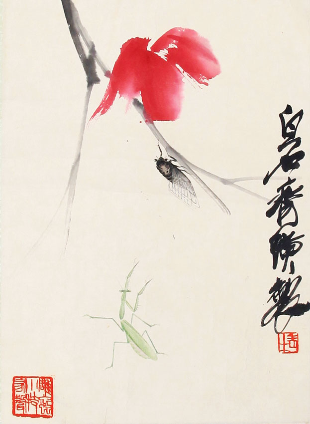 QI BAI SHI CHINESE PAINTING, ATTRIBUTED TO