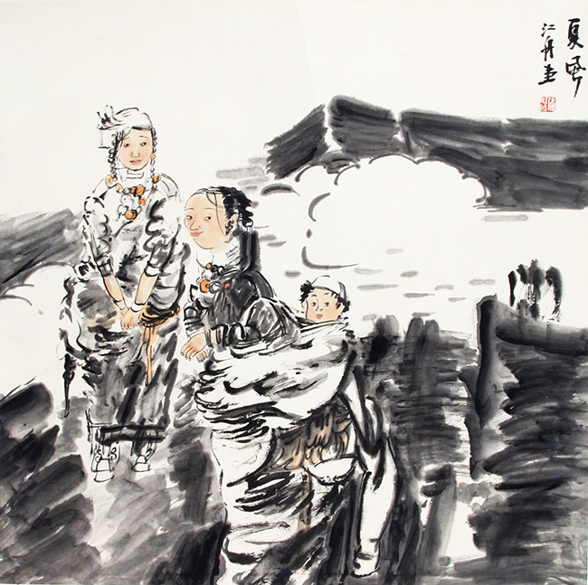ZHANG JIANG ZHOU CHINESE PAINTING, ATTRIBUTED TO