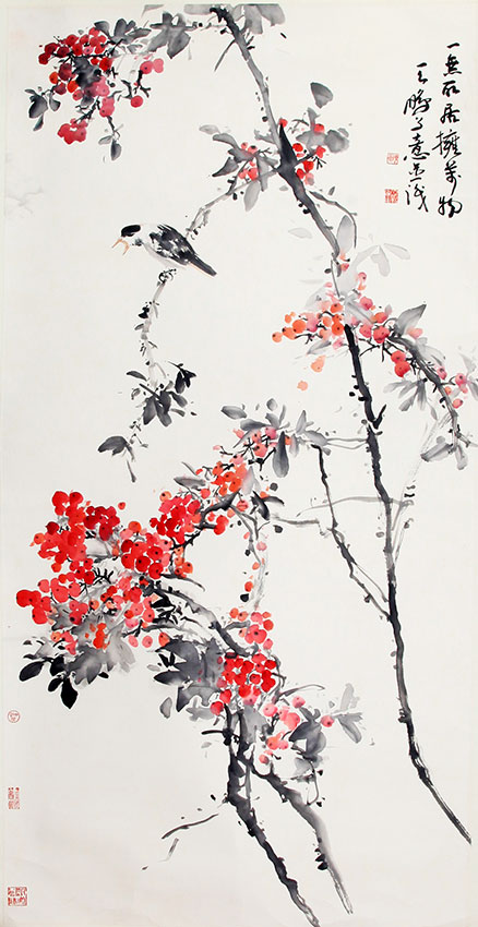 CHEN PENG CHINESE PAINTING, ATTRIBUTED TO