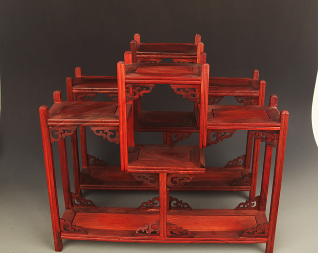 SET OF OLD CHINESE SHELF MADE OF HONG SUAN ZHI
