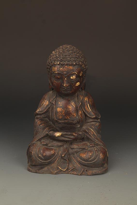 A FINELY BRONZE AMITABHA TATHAGATA BUDDHA