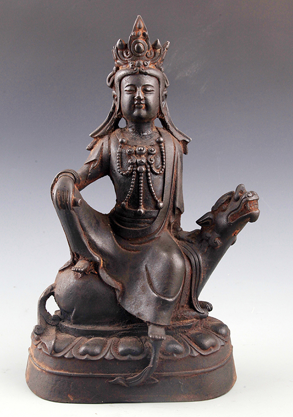 A LIFE LIKE BRONZE GUAN YIN BUDDHA MODEL