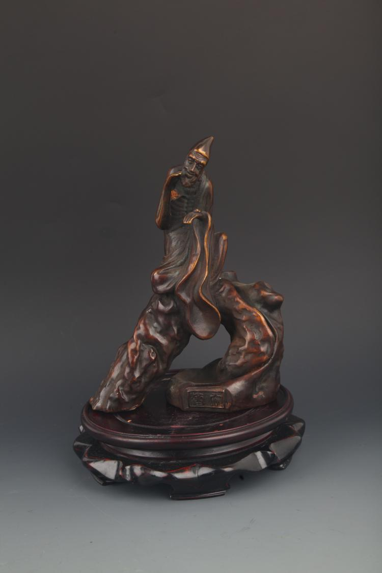 A FINE BRONZE THE MAD MONK