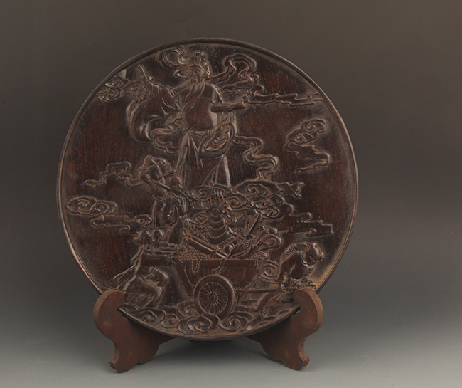 A IMMORTALS CARVING XIAO YE ZI TAN PLATE