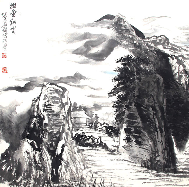 A ZHANG DA SHI PAINTING, ATTRIBUTED TO