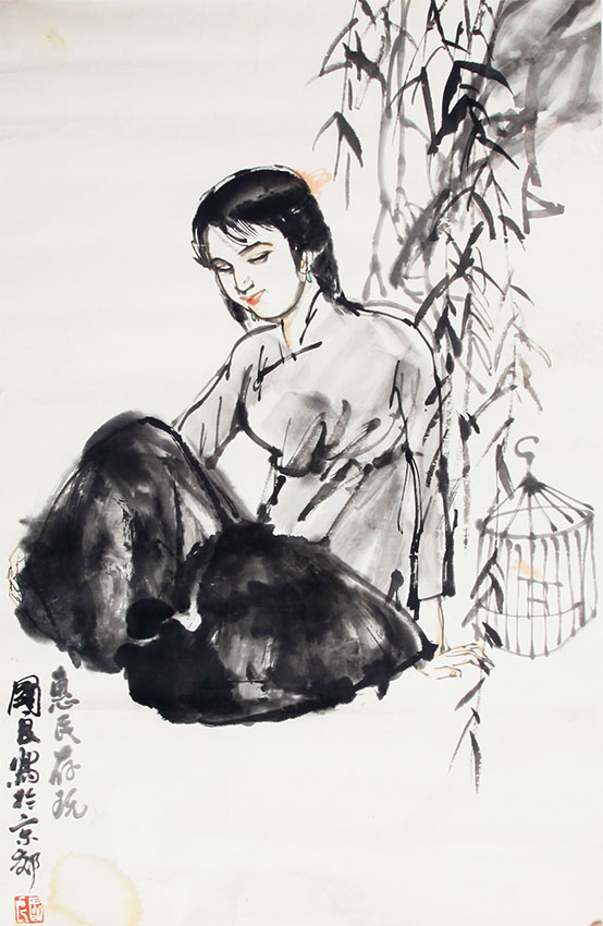 A SHI GUO LIANG PAINTING, ATTRIBUTED TO