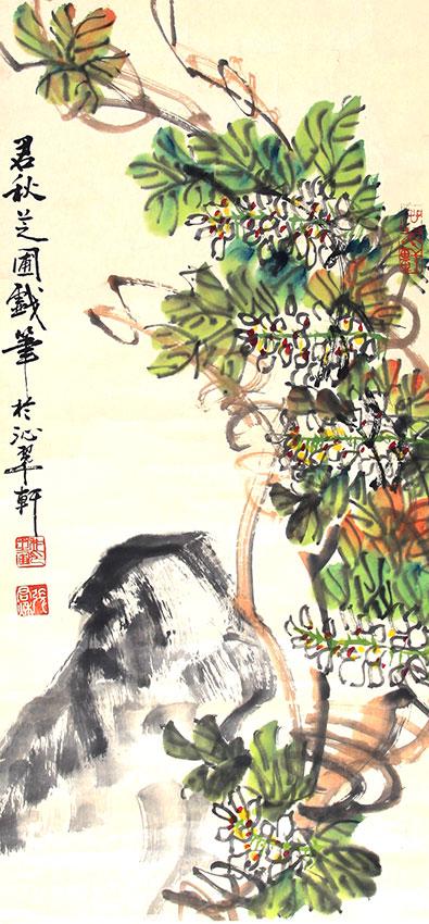 A ZHANG JUN QIU PAINTING, ATTRIBUTED TO