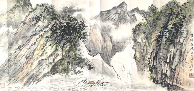 A WU JING TING PAINTING, ATTRIBUTED TO