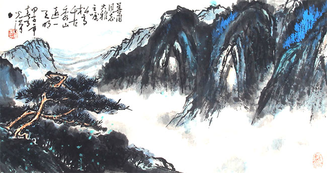 A ZHOU GUANG HAN PAINTING, ATTRIBUTED TO