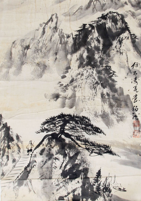 HEI BO LONG CHINESE PAINTING, (ATTRIBUTED TO )