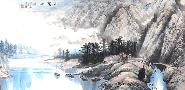 A LI YI PAINTING, ATTRIBUTED TO
