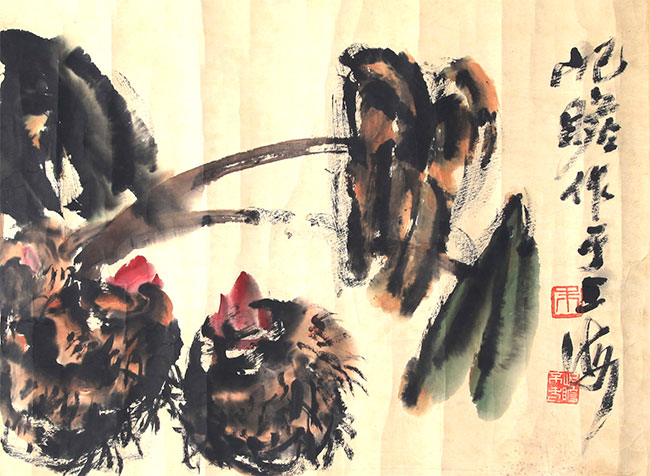 A ZHU JI ZHAN PAINTING, ATTRIBUTED TO