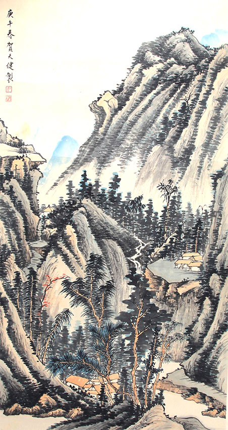A HE TIAN JIAN PAINTING, ATTRIBUTED TO