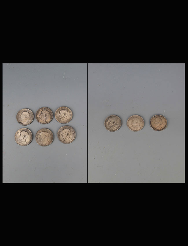 A GROUP OF 9 REPUBLIC PERIOD SILVER COIN