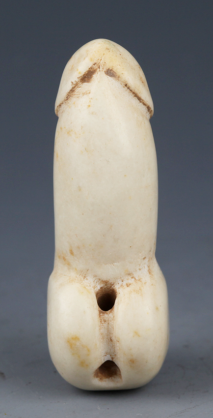 A OLD AND MAN GENITAL SHAPE RARE JADE