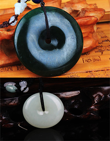 GROUP OF TWO JADE PENDANT