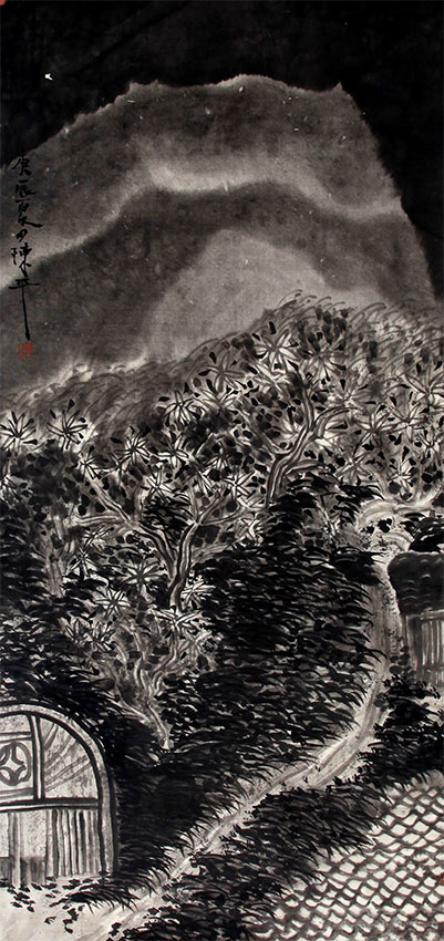 A CHEN PING CHINESE PAINTING (ATTRIBUTED TO )