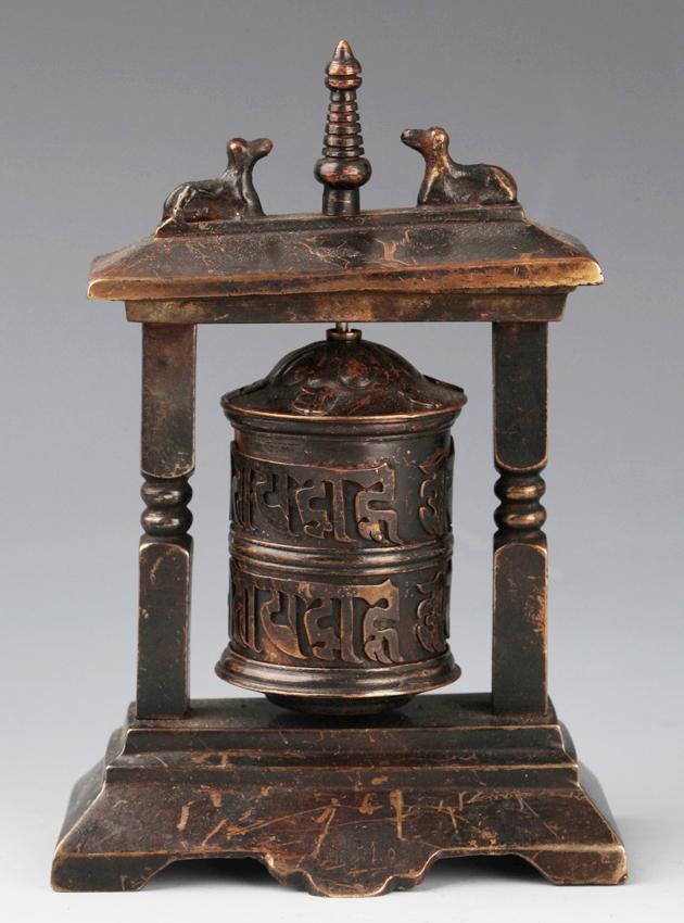 A FINE TIBETAN BRONZE BELL