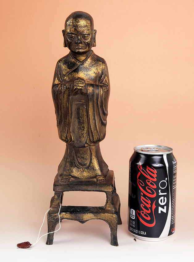 TALL GILT BRONZE BUDDHA FIGURE