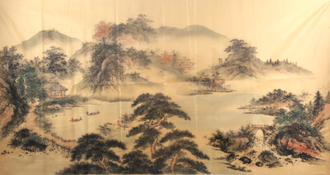 A FINE CHINESE PAINTING IN SILK