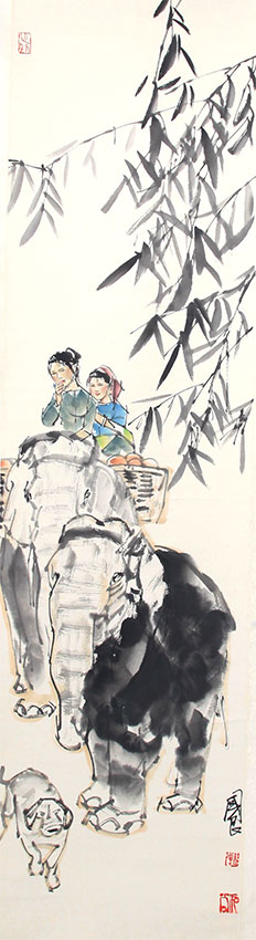 SHI GUO LIANG CHINESE PAINTING (ATTRIBUTED TO )
