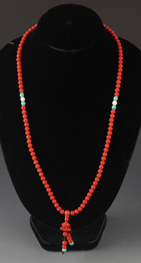 A COPY OF CORAL NECKLACE
