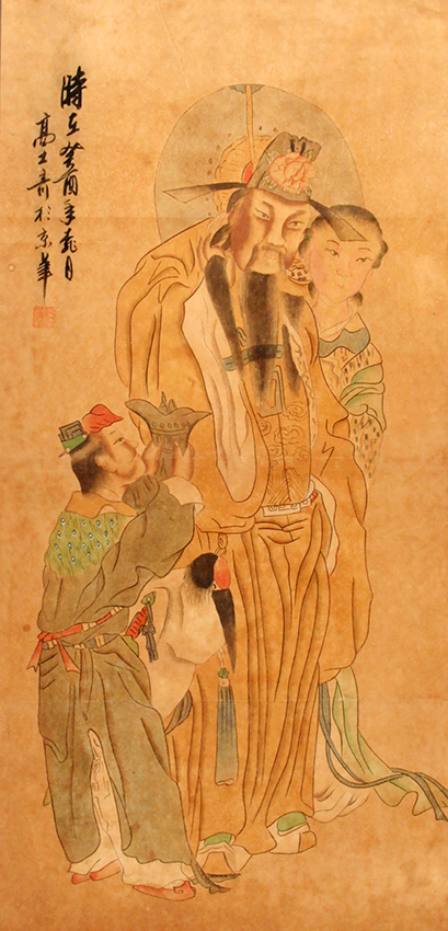 A FINE CHINESE PAINTING ATTRIBUTED TO GAO SHI QI