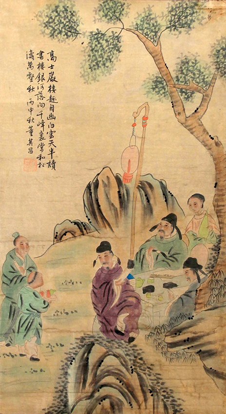 A FINE CHINESE PAINTING ATTRIBUTED TO DONG QI XIAN