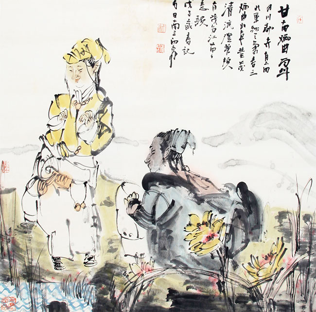 A CHINESE PAINTING ATTRIBUTED TO ZHANG JIANG ZHOU