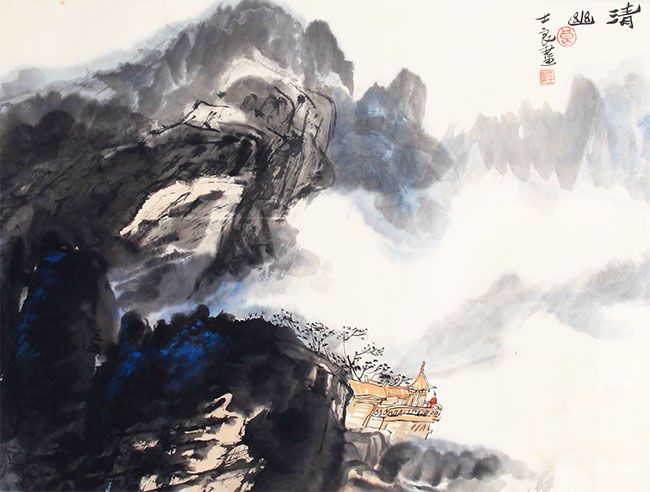 A LI SHI LIANG CHINESE PAINTING, ATTRIBUTED TO