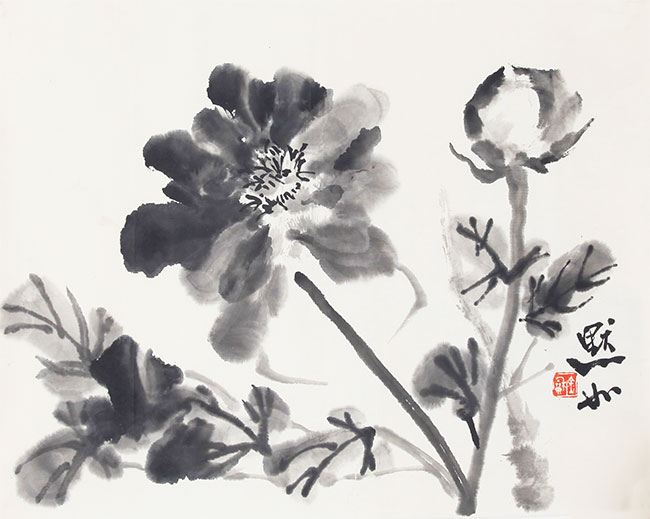 A CHINESE PAINTING ATTRIBUTED TO JIN MO RU