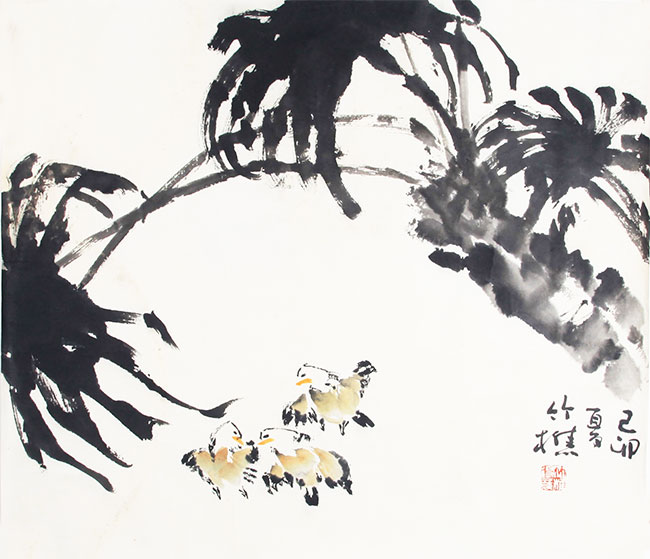 A CHINESE PAINTING ATTRIBUTED TO ZHU JIAO