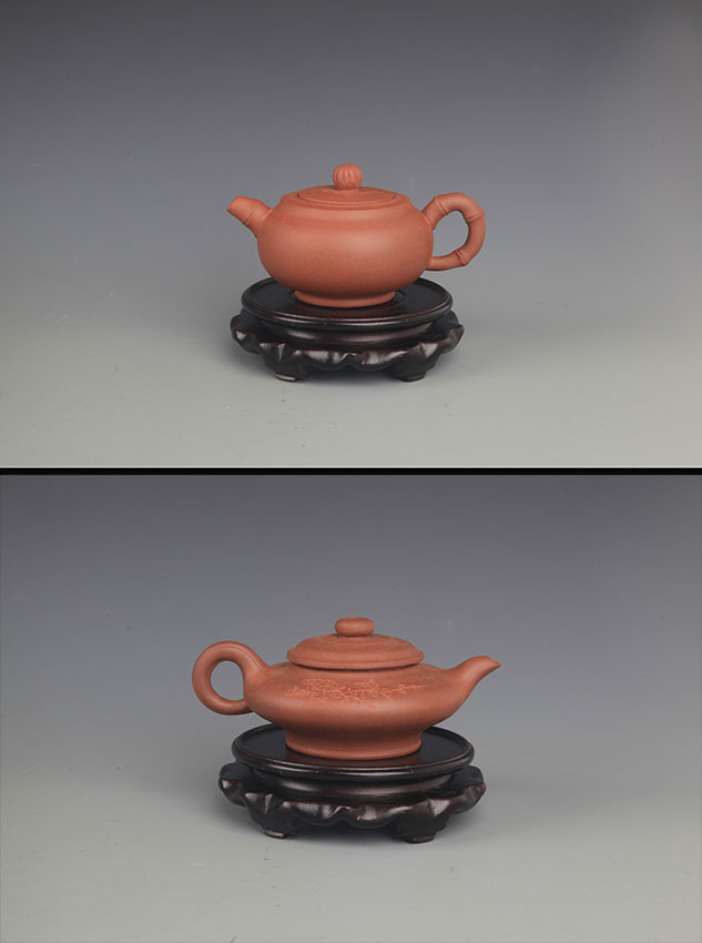 GROUP OF TWO FINELY MADE YI XING ZI SHA TEA POT
