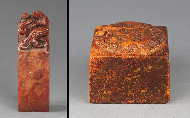 GROUP OF TWO FINELY CARVED SOAPSTONE