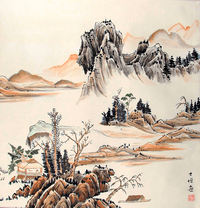 SONG SHI YUAN CHINESE PAINTING (ATTRIBUTED TO)