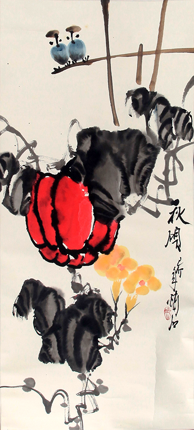 QIAO ZUI SHI CHINESE PAINTING (ATTRIBUTED TO)