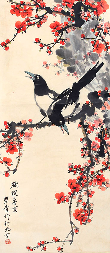 HU JIE QING CHINESE PAINTING (ATTRIBUTED TO )