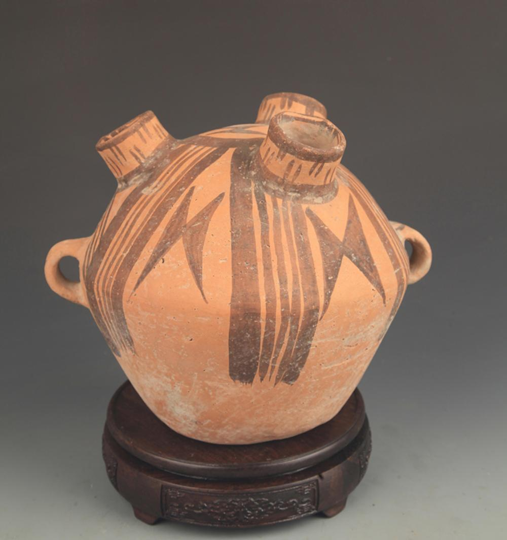 COPY OF MA JIA YAO KILN CULTURE DOUBLE EAR POTTERY JAR