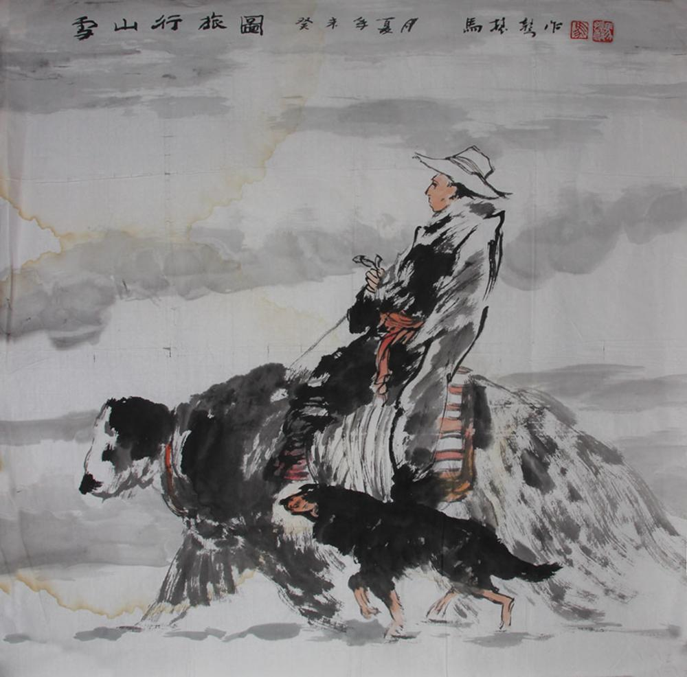 MA ZHEN SHENGCHINESE PAINTING ATTRIBUTED TO