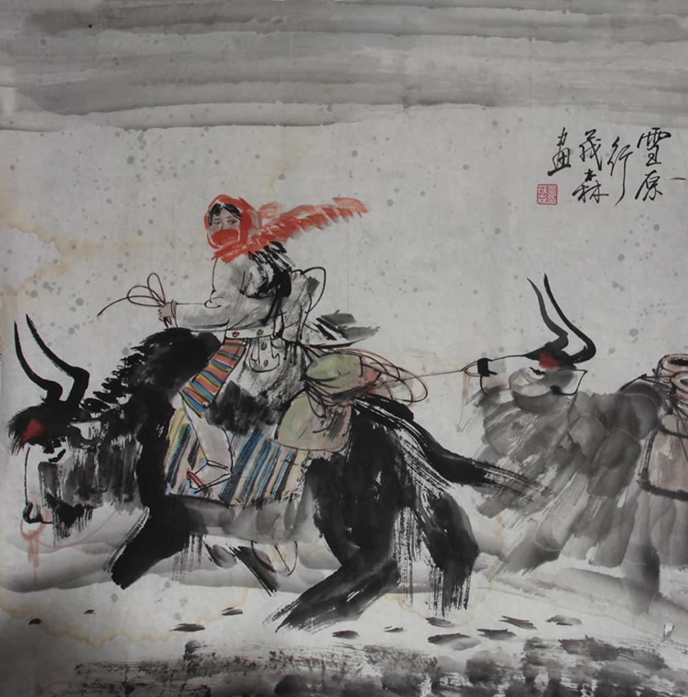 GAI MAO LINCHINESE PAINTING ATTRIBUTED TO