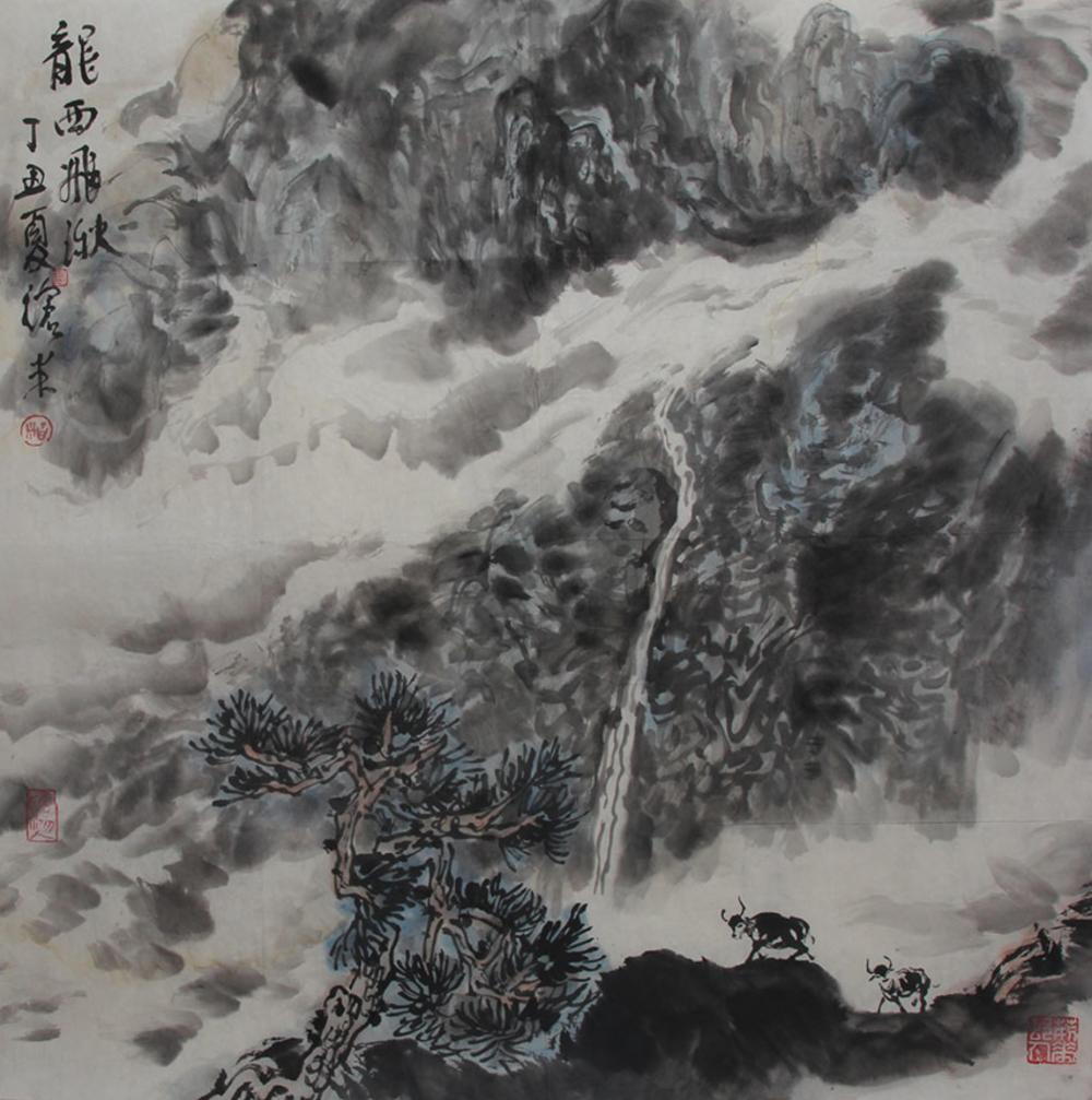 ZHOU CANG MI CHINESE PAINTING (ATTRIBUTED TO )