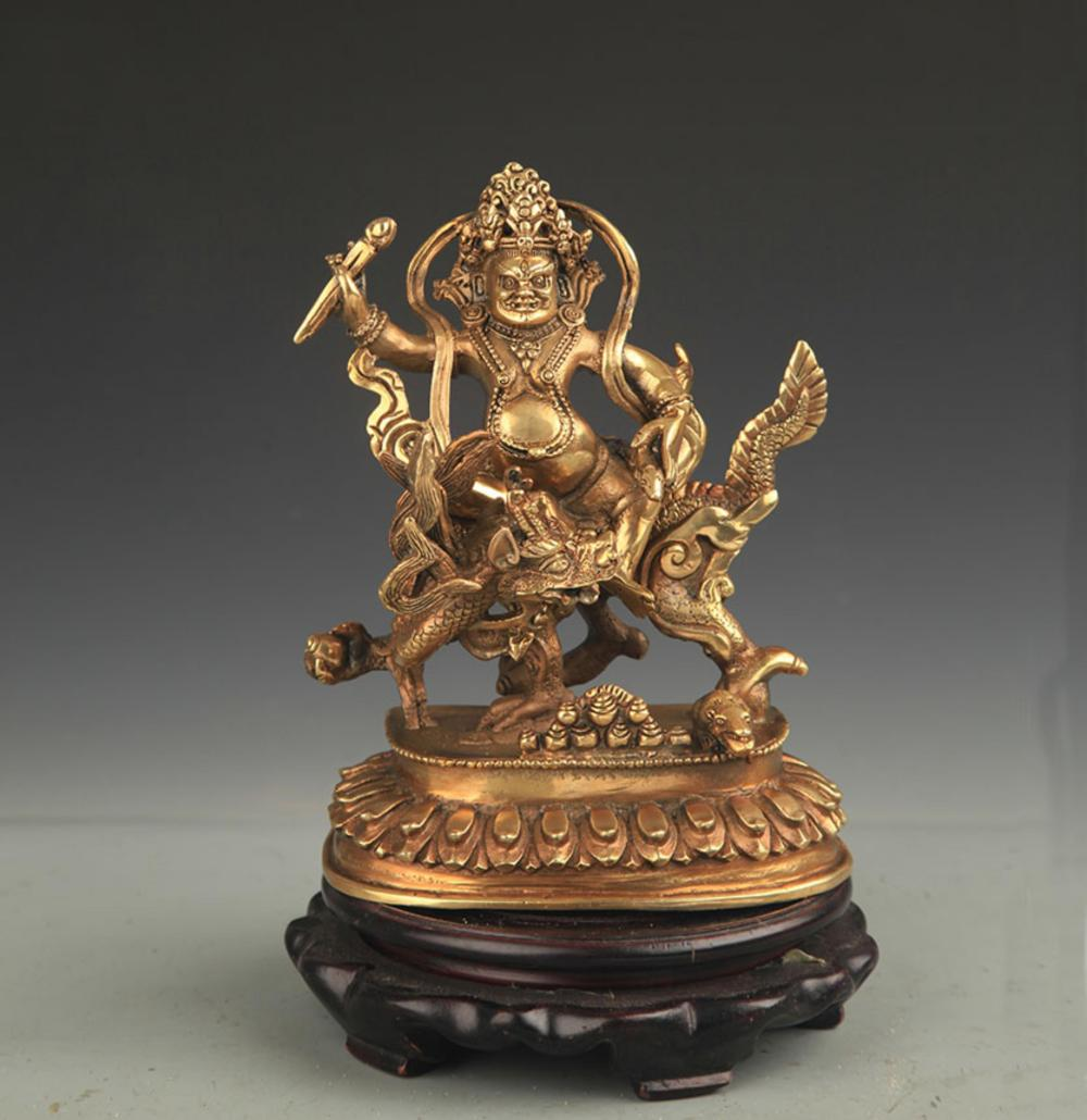 TIBETAN BUDDHISM BRONZE GOD OF WEALTH