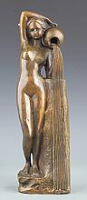 A WESTERN STYLE BRONZE FEMALE ATTENDANCE
