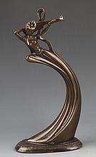 A FINELY DESIGN AND CARVED BRONZE FEMALE ATTENDANCE