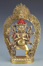 A FINELY TIBETAN BUDDHA CARVING BRONZE MODEL