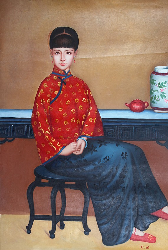 A CHENG MING OIL PAINTING