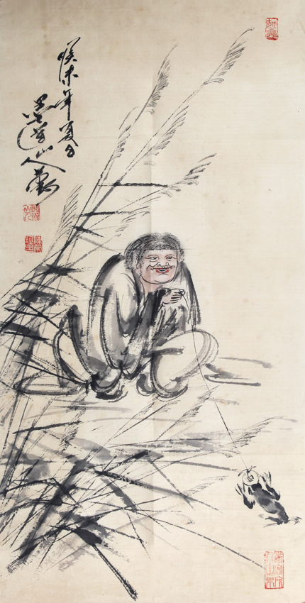 A FINE CHINESE PAINTING ATTRIBUTED TO, CHEN RONG KE (ATTRIBUTED TO 1927-)